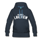 Lakeview Women's Premium Hoodie - navy