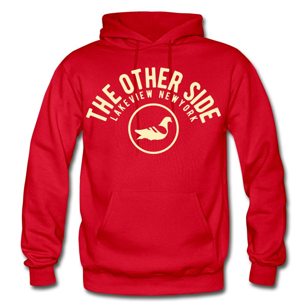 The Other Side Heavy Blend Adult Hoodie - red