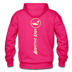 The Other Side Heavy Blend Adult Hoodie - fuchsia