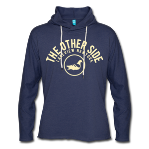 The Other Side Lightweight Terry Hoodie - heather navy