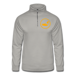 WRTC Quarter Zip Running Pullover - light gray
