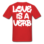 """Love is a Verb"" T-Shirt - red"