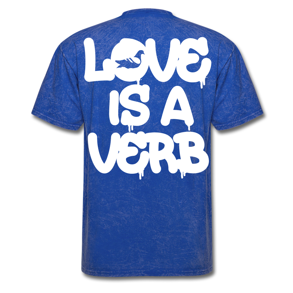 """Love is a Verb"" T-Shirt - mineral royal"
