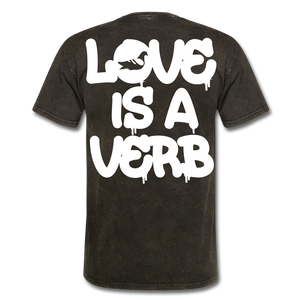 """Love is a Verb"" T-Shirt - mineral black"