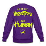 All of our Monsters Crewneck Sweatshirt - purple