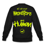 All of our Monsters Crewneck Sweatshirt - black