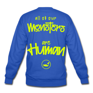 All of our Monsters Crewneck Sweatshirt - royal blue