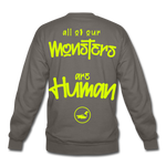 All of our Monsters Crewneck Sweatshirt - asphalt gray