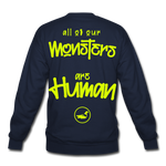 All of our Monsters Crewneck Sweatshirt - navy