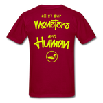 All of our Monsters T-Shirt - dark red