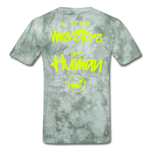 All of our Monsters T-Shirt - military green tie dye
