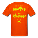 All of our Monsters T-Shirt - orange
