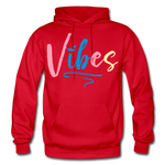 Vibes Heavy Blend Adult Hoodie - red