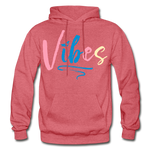 Vibes Heavy Blend Adult Hoodie - heather red