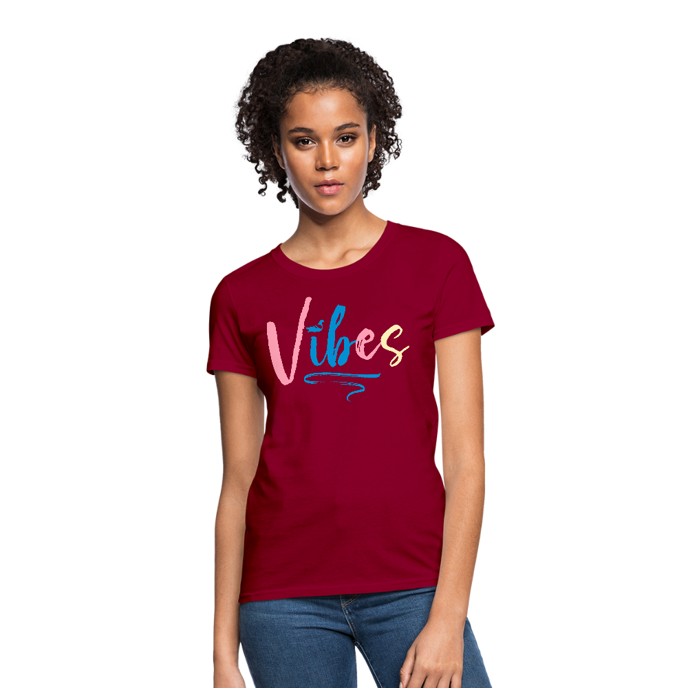 Vibes Women's T-Shirt - dark red