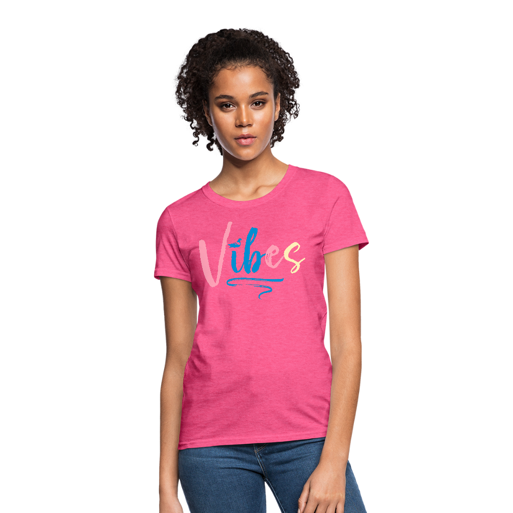 Vibes Women's T-Shirt - heather pink