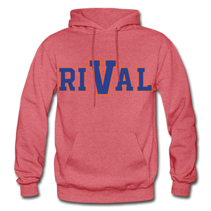 Rival Heavy Blend Adult Hoodie - heather red