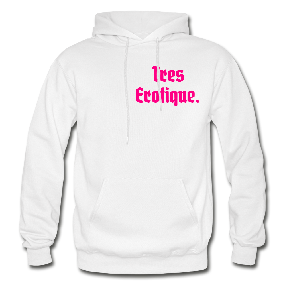 Erotique Heavy Blend Adult Hoodie - white