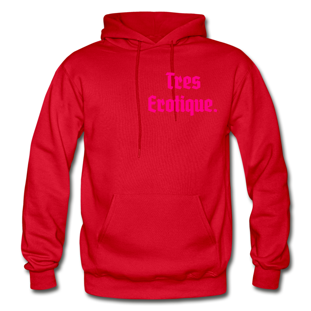 Erotique Heavy Blend Adult Hoodie - red