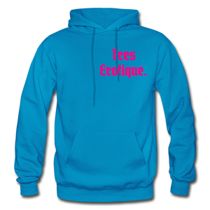 Erotique Heavy Blend Adult Hoodie - turquoise