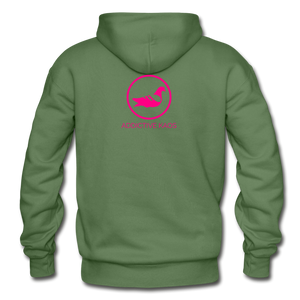 Erotique Heavy Blend Adult Hoodie - military green