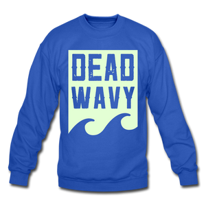 Dead Wavy (Glow) Crewneck Sweatshirt - royal blue