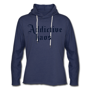 Classic Addictive Kaos Lightweight Terry Hoodie - heather navy