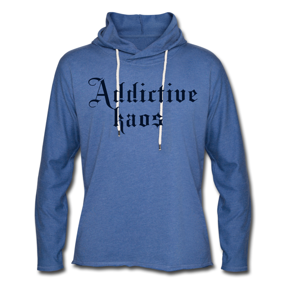Classic Addictive Kaos Lightweight Terry Hoodie - heather Blue