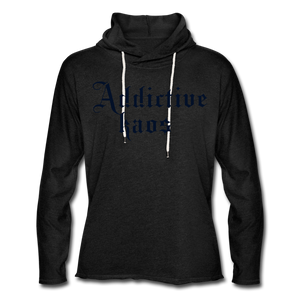 Classic Addictive Kaos Lightweight Terry Hoodie - charcoal gray