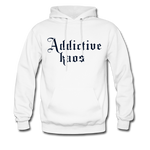 Classic Addictive Kaos Men's Hoodie - white
