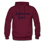 Classic Addictive Kaos Men's Hoodie - burgundy