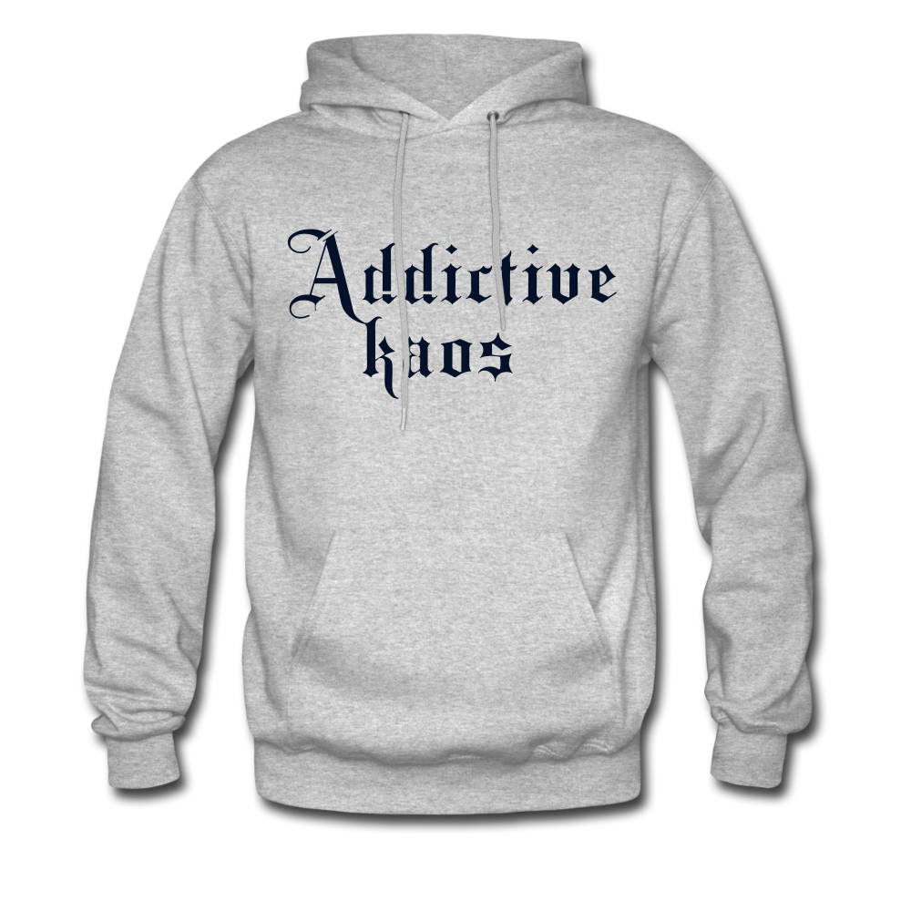 Classic Addictive Kaos Men's Hoodie - heather gray