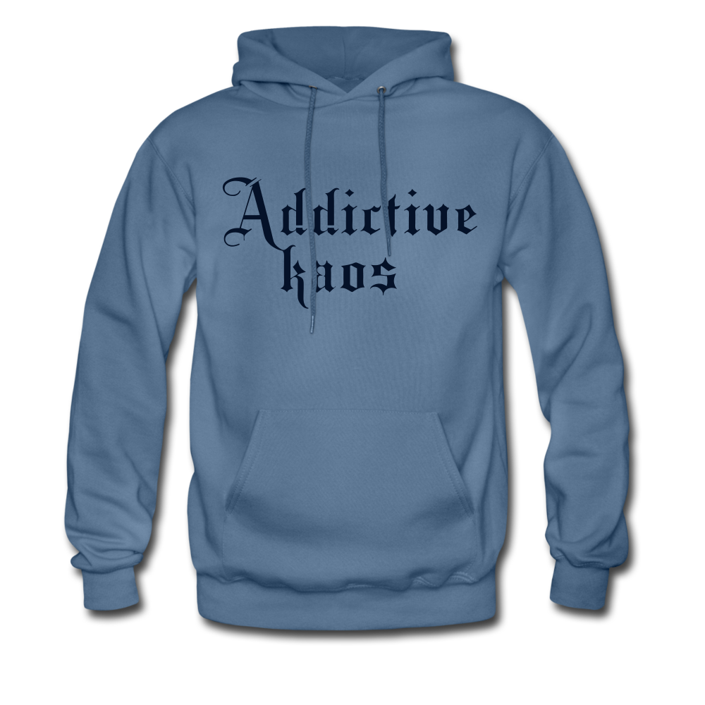 Classic Addictive Kaos Men's Hoodie - denim blue