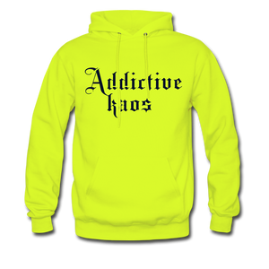 Classic Addictive Kaos Men's Hoodie - safety green
