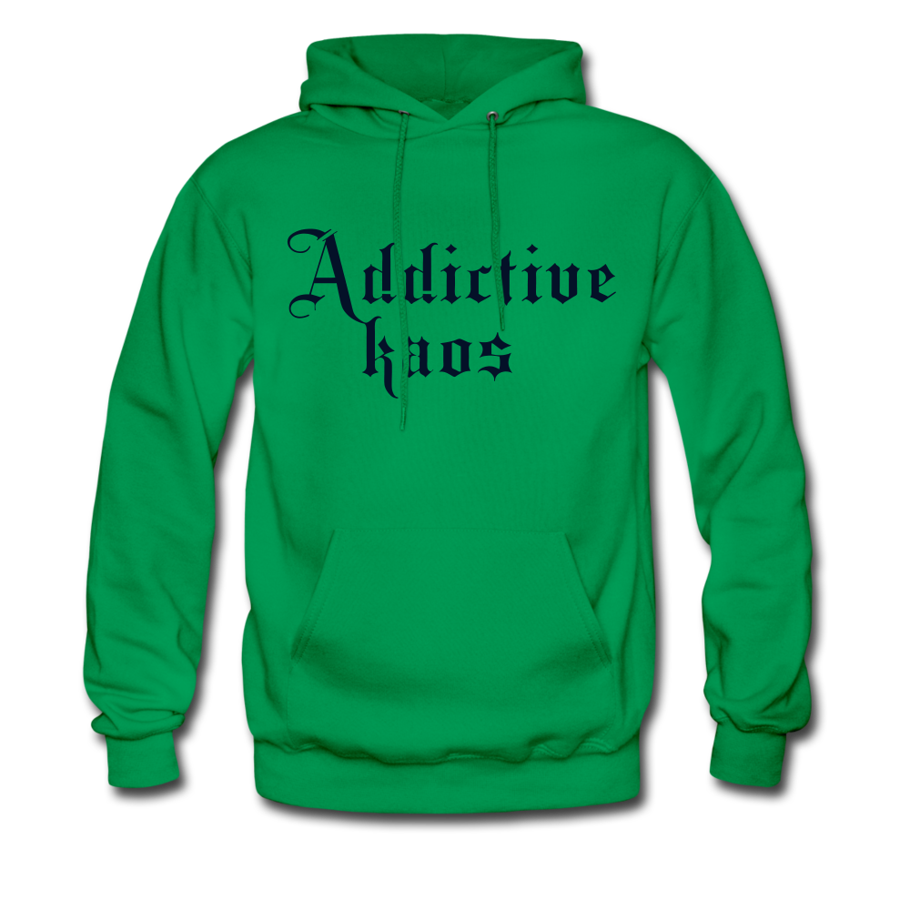 Classic Addictive Kaos Men's Hoodie - kelly green