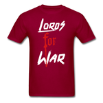 Lords For War T-Shirt - dark red