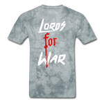 Lords For War T-Shirt - grey tie dye
