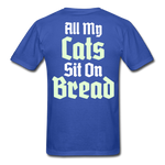 Cats Sit On Bread T-Shirt - royal blue