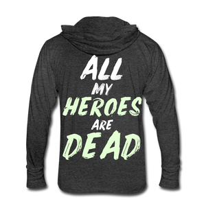 Dead Heroes Tri-Blend Hoodie Shirt - heather black