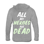 Dead Heroes Tri-Blend Hoodie Shirt - heather gray
