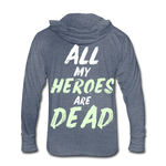 Dead Heroes Tri-Blend Hoodie Shirt - heather blue