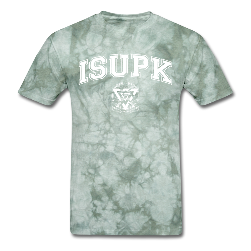 ISUPK Team T-Shirt - military green tie dye