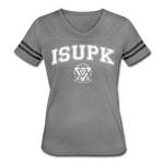 ISUPK Team Women's Vintage Sport T-Shirt - heather gray/charcoal