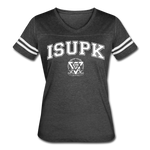 ISUPK Team Women's Vintage Sport T-Shirt - vintage smoke/white