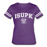 ISUPK Team Women's Vintage Sport T-Shirt - vintage purple/white