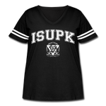 ISUPK Team Women's Curvy Sport T-Shirt - black/white