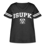 ISUPK Team Women's Curvy Sport T-Shirt - vintage smoke/white