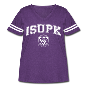 ISUPK Team Women's Curvy Sport T-Shirt - vintage purple/white