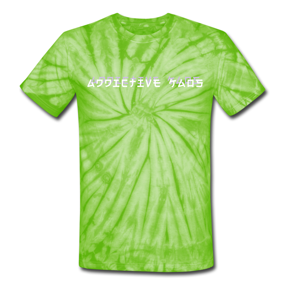 Sucker Tie Dye T-Shirt - spider lime green