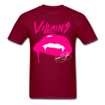 Villains  T-Shirt - burgundy